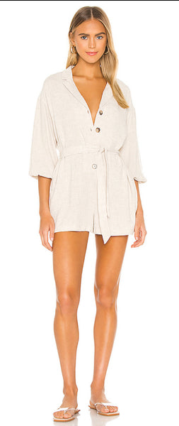 Minkpink Alyssa Playsuit Natural