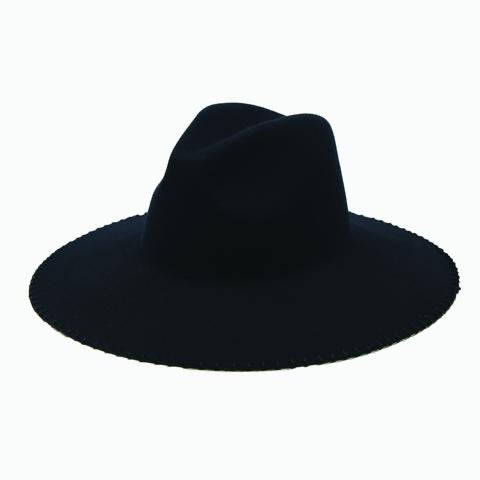 Easton Felt Whipstich Black Hat