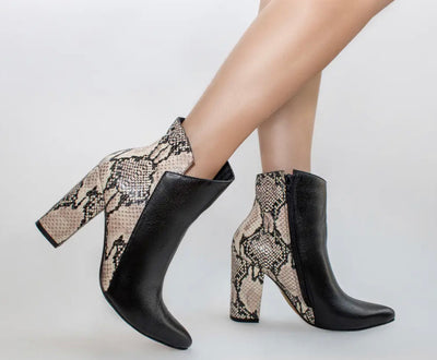 Pashion Boots - Black & Snake
