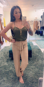 SEN Olive Green Eve Cami Top