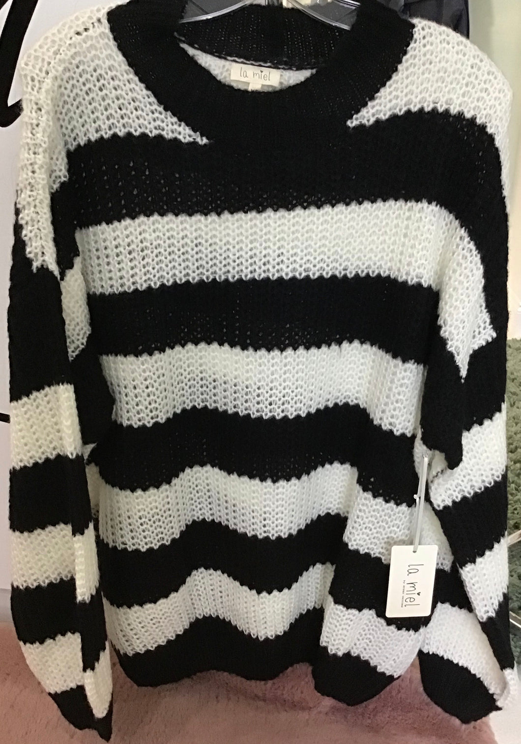 LA Black & White Sweater