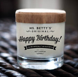 Happy Birthday Candle - Apples & Maple Bourbon