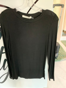 MU Black Long Sleeve Jersey Top