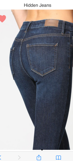 Hidden Dark Blue High Rise Skinny Jeans