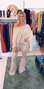 Gold & Silver Bell Bottoms