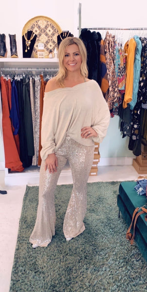 BT Gold & Silver Bell Bottoms