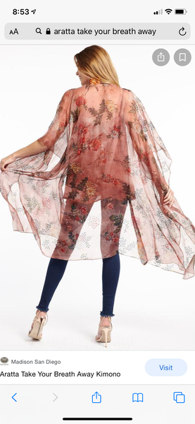 Copper Take your breath away Kimono