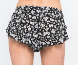 SKY Black Laced Shorts
