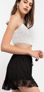SKY Black Ruffled Shorts
