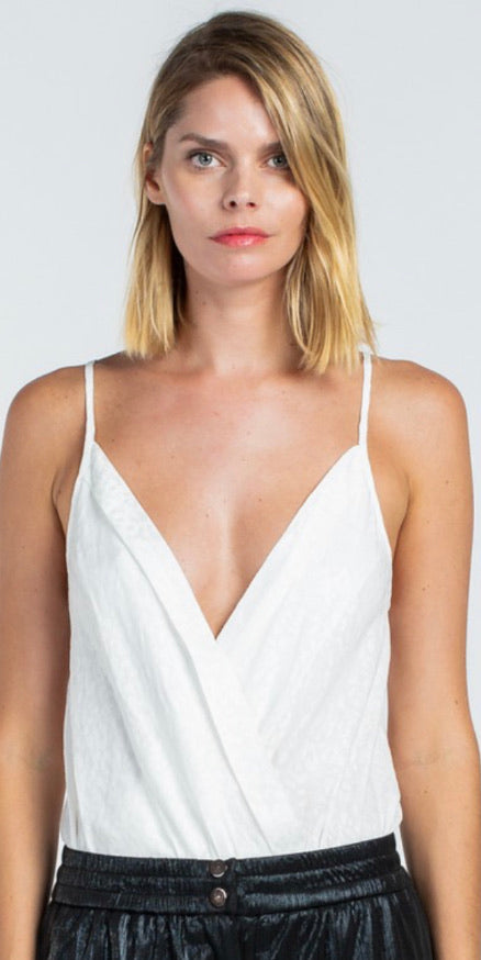 SKY White Sleeveless Bodysuit