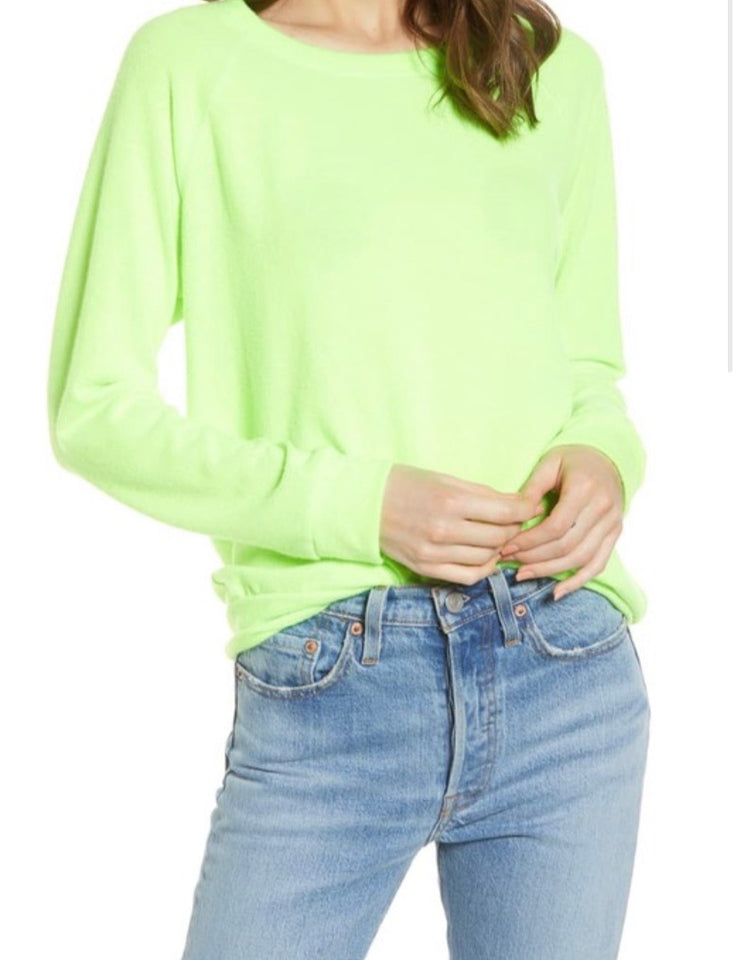 Neon Green Hacci Pullover T-Shirt
