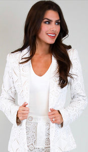 French Quarter Crochet Blazer