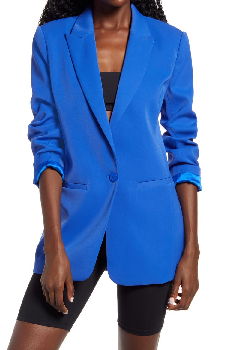 Single Breasted Cobalt Blue Blazer