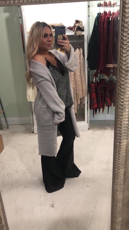 MY Gray Long Cardigan