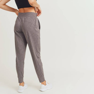 Side-Paneled Cuffed Joggers - Two Tone Grey