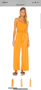 Minkpink Cowl Neck Jumpsuit with D-Ring Marigold
