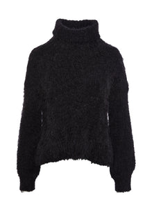 Black Amanda Cable Knit Sweater