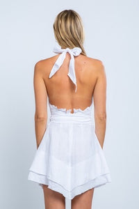 SKY White Apron Dress