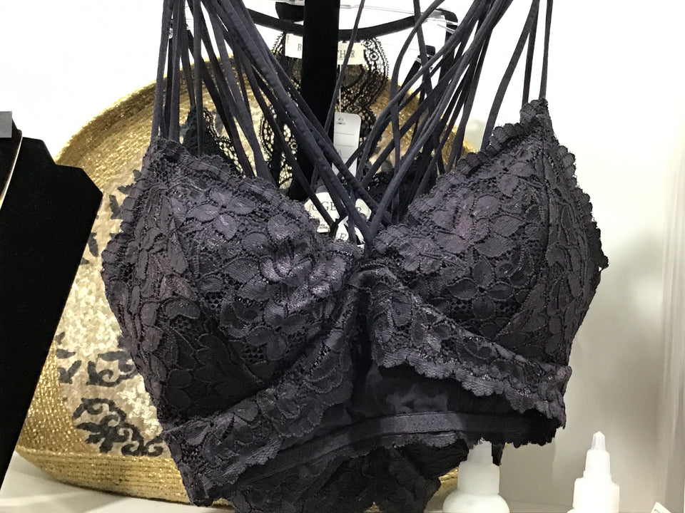 BT Charcoal Laced Bralette
