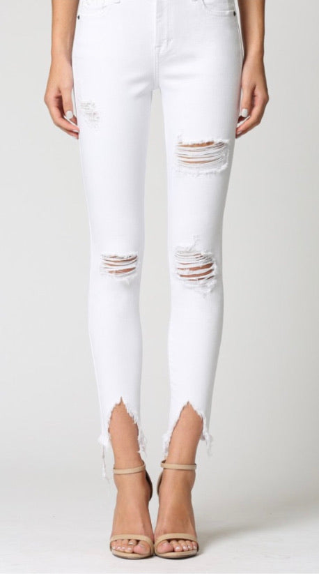 HIdden White Denim High Rise Jeans Basic Skinny