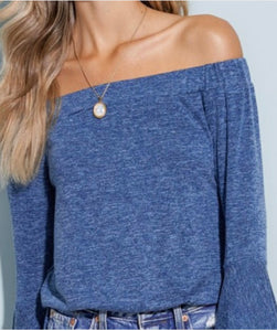 LA Blue Bell Sleeve Sweater