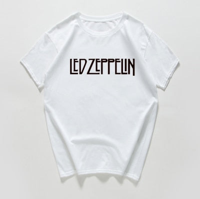 Led zeppelin Hard rock t shirt women Cotton plus size casual summer tshirt women, vintage streetwear tee shirt femme harajuku