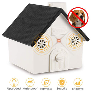 Humutan Anti Barking Device, 2019 New Bark Box Outdoor Dog Repellent Device with Adjustable Ultrasonic Level Control Safe for