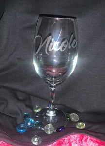 Personalized Etching Wine Glass/Stemless Glass (20 ounces)