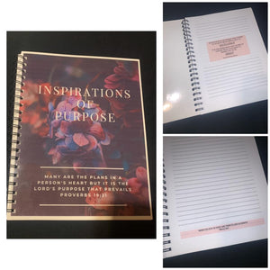 8 x 10 Personalized Journal - Inspirations of Purpose
