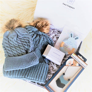 Mommy & Me Gray Baby Winter Box