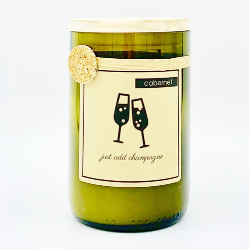 Cabernet Sauvignon Recycled Wine Bottle Soy Candle