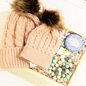 Mommy & Me Tan Baby Winter Box