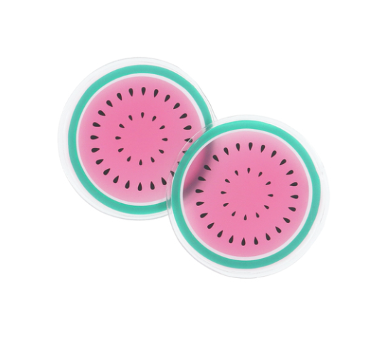 Watermelon Cooling Gel Eye Masks