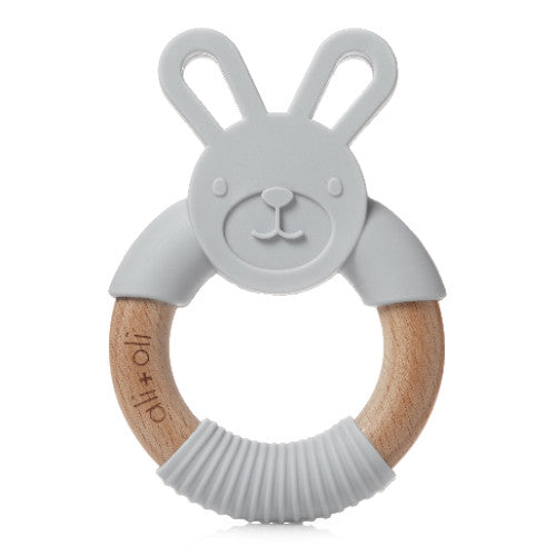 Gray Bunny Teether