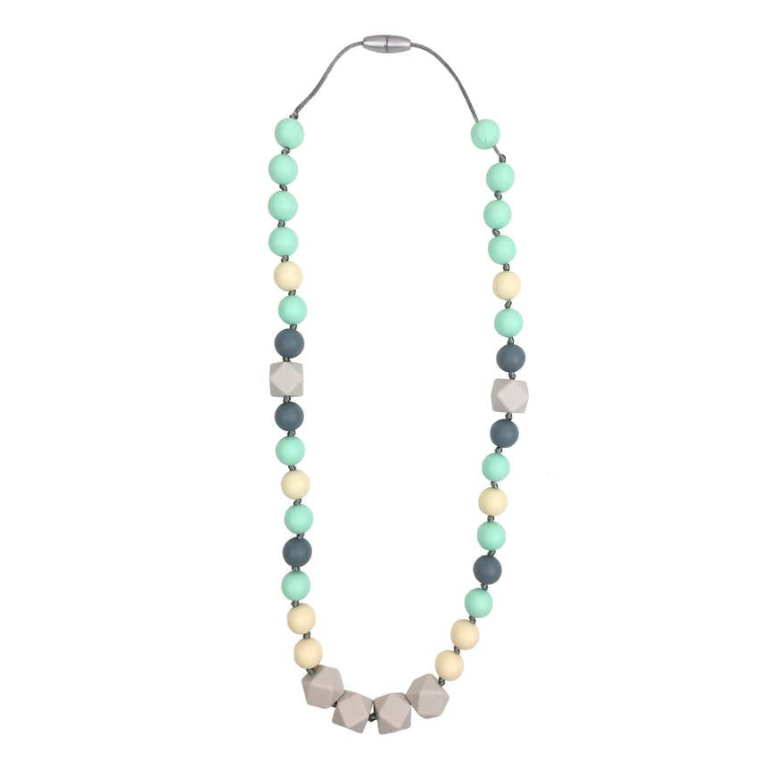 Mint Gray Teething Necklace