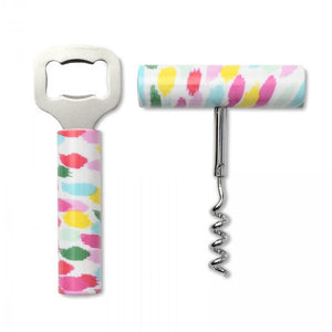 Confetti Dot Wine & Bottle Opener Set