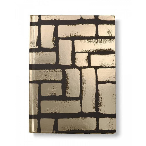 Gold Black Brick Journal