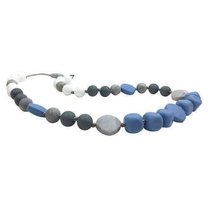 Blue Grey Teething Necklace