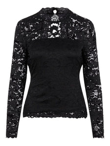Lace Top Cuello