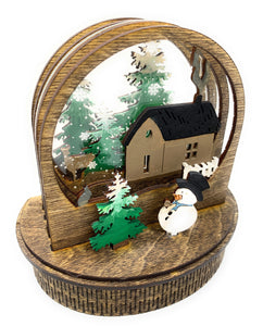 Holiday 3D Custom Built & Painted Holiday Globe