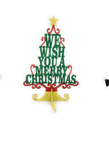 Holiday Christmas Tree Cutout We Wish You A Merry Christmas