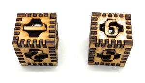 Custom Made Wooden Dice Die