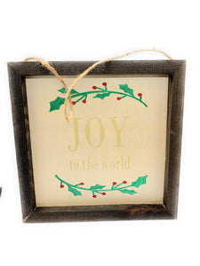 Joy To The World Custom Made Framed Wooden Sign