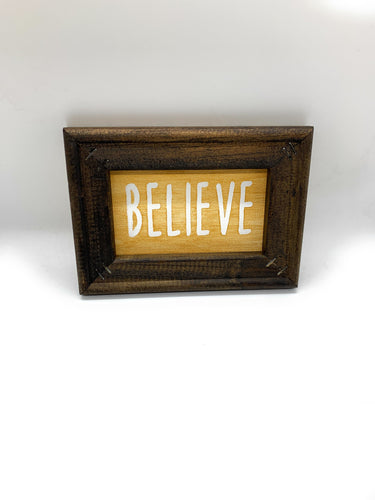 Believe Custom Made Framed Canvas Painting