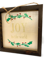 Load image into Gallery viewer, Joy To The World Custom Made Framed Wooden Sign