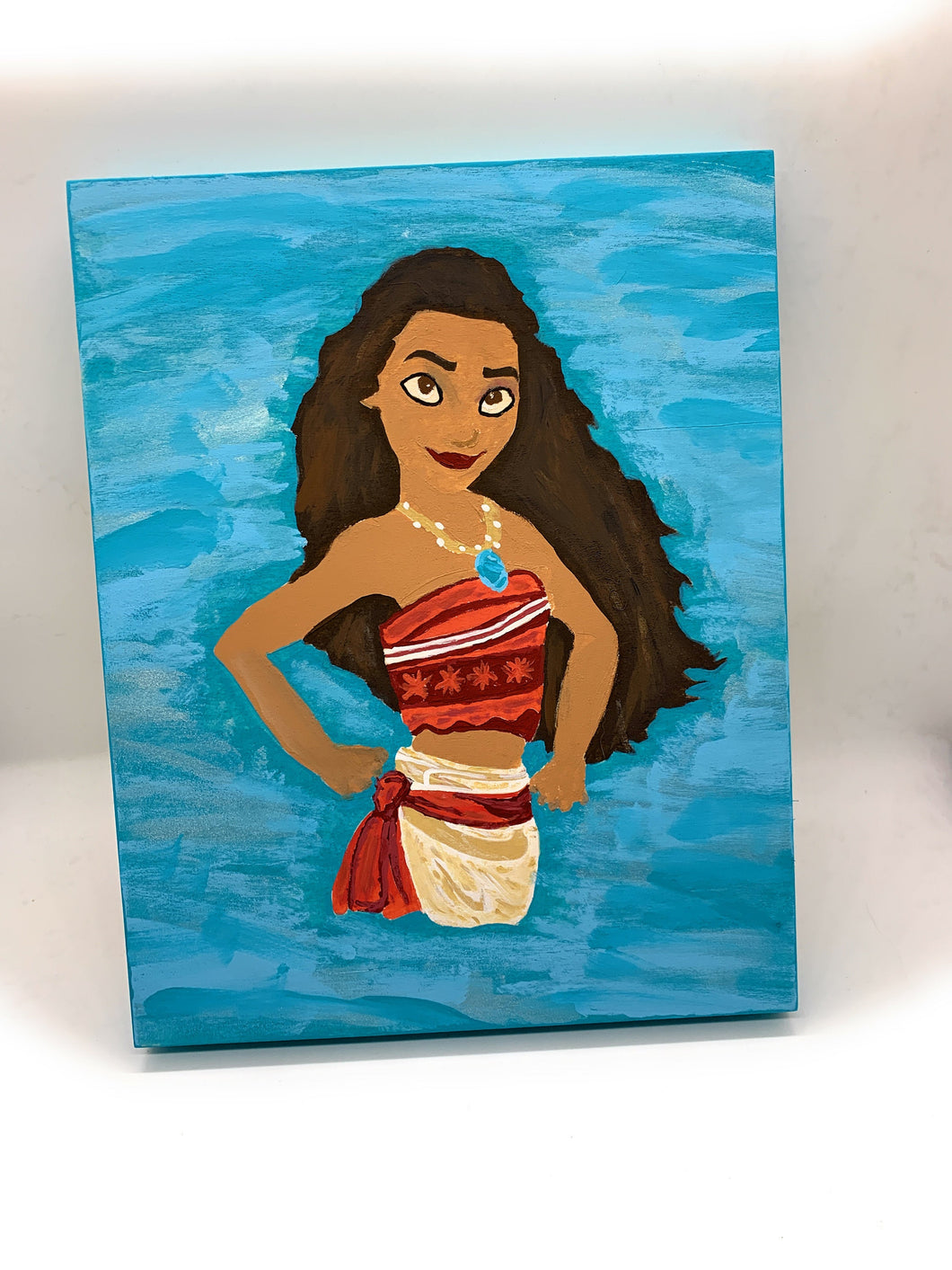 Hand Painted wooden canvas of Moana