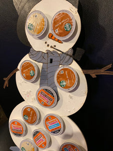 Christmas Snowman Keurig Holder hand painted