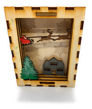 Load image into Gallery viewer, Holiday Christmas 3D Shadow Box With Lid