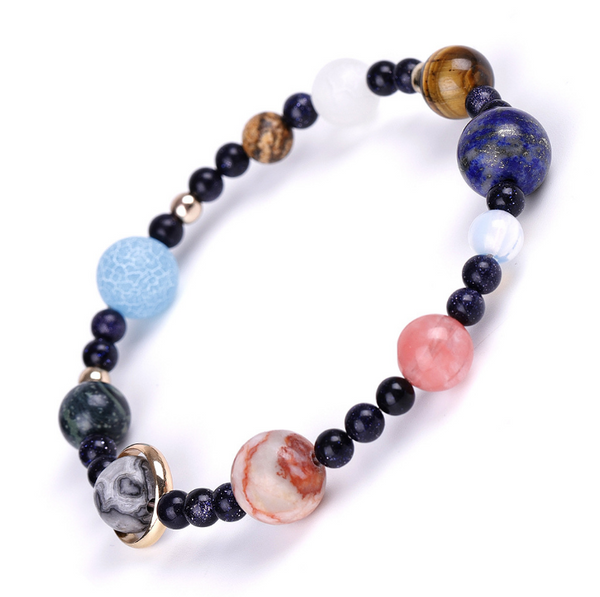 Chakra Bracelet Solar System Galaxy Planet Anxiety Relief Gemstones