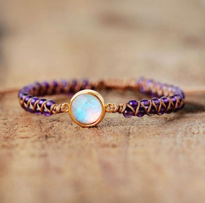Natural Healing Opal Stone Amethysts Gemstone Yoga Friendship Bracelet